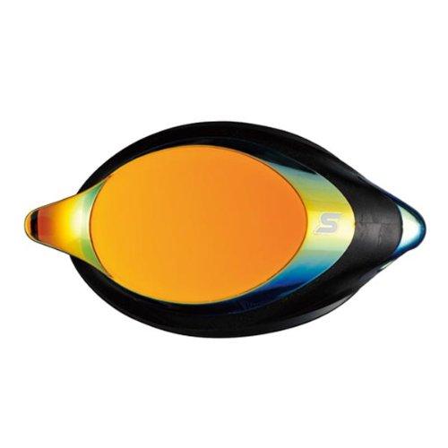 SWANS optisches Glas für Schwimmbrille SRXCL-M gold-verspiegelt