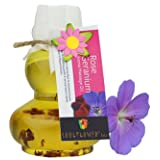 Soulflower Rose Geranium Aroma Massage Oil, 120g