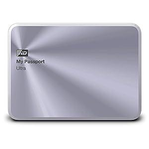 WD ポータブルHDD My Passport Ultra Metal Edition 1TB WDBTYH0010BSL-PESN