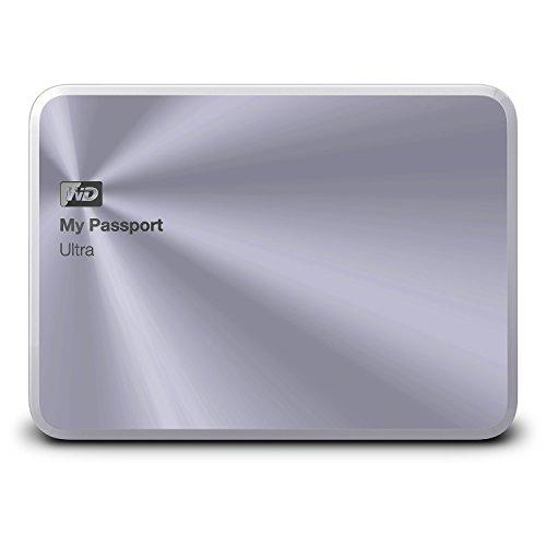 WD HDD ポータブル ハードディスク 1TB USB3.0 My Passport Ultra Metal Edition WDBTYH0010BSL-PESN シルバー / 暗号化パスワード保護/3年保証