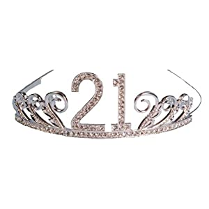 Rhinestone Encrusted Birthday Tiara,Keepsake Box