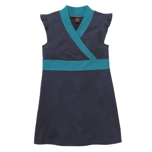 Tea Collection Solid Banded Dress, Indigo, 18-24 Months