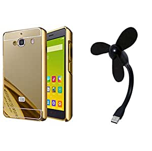 Novo Style Back Cover Case with Bumper Frame Case for Xiaomi Mi Redmi 2s  Golden + Mini USB Fan Adjust Angle / bendable Portable Flexible USB Fan