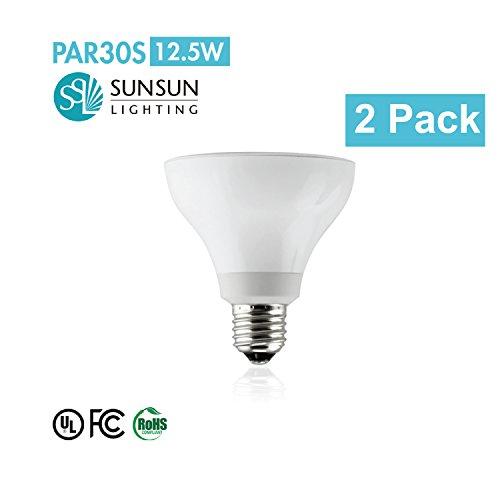 Pkg. Of 2 Sunsun Lighting Par30 Led Dimmable Spot Light Bulb With Short Neck, Warm White Si-Par30D13-27Wh/S/36D