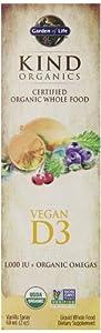 Garden of Life Kind Organics Vegan D3 Spray, 2 Ounce