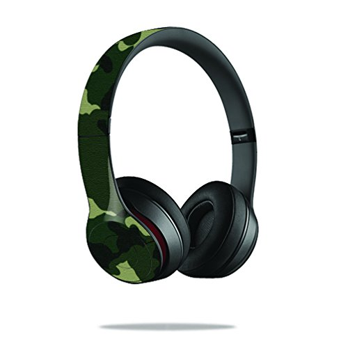 Mightyskins Protective Vinyl Skin Decal Cover For Dr. Dre Beats Solo2 Headphones Sticker Skins Green Camo