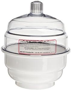 Bel-Art Scienceware 420300000 Polycarbonate/Polypropylene Space Saver Non-Vacuum Desiccator, 14.9cm ID, 17.1cm Flange OD, 20.6cm Height, 14cm Plate Size