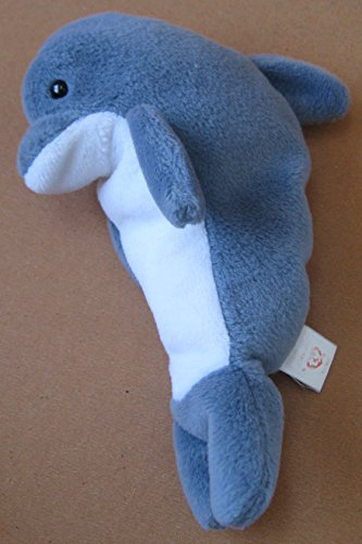 TY Beanie Babies Echo the Dolphin Plush Toy Stuffed Animal - 1