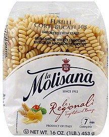 La Molisana Pasta Fusilli Bucati Corti 16 oz (Pack Of 12)