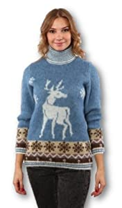 Freyja Icelandic Wool Canada Women's Fairisle Turtleneck Sweater