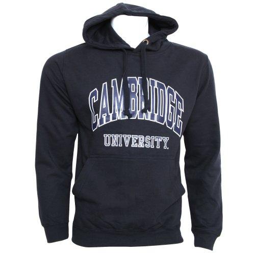 Mens Cambridge University Print Hooded Sweatshirt Jumper/Hoodie (S - 34inch - 36inch) (Navy)