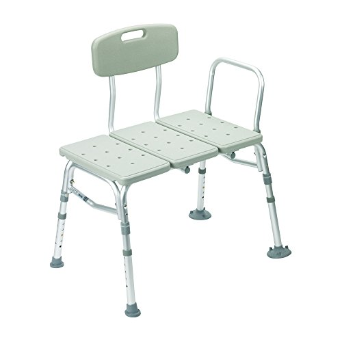 Drive Medical Three Piece Transfer Bench, Gray (Three Piece Shower compare prices)