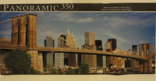 Panoramic 350 Piece Puzzle - Brooklyn Bridge, New York