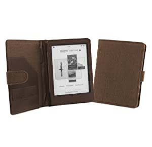 Cover-Up Kobo Glo eReader Natural Hemp Cover Case With Auto Sleep / Wake Function (Book Style) - (Cocoa Brown) at Electronic-Readers.com