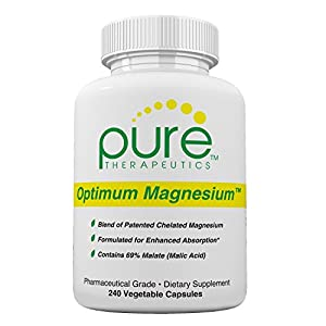 Optimum Magnesium | Contains: 250 mg Elemental Magnesium (Traacs® Magnesium Lysyl Glycinate Chelate, Di-magnesium Malate) and 830 mg of Malic Acid (As Di-magnesium Malate) *Both Formulated for Enhanced Absorption* | Non-Buffered and FREE OF Magnesium Ste