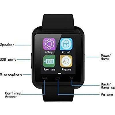 Lenovo Vibe P1M COMPATIBLE Bluetooth Smart Watch Phone With Camera and Apps  like Facebook and WhatsApp Touch Screen