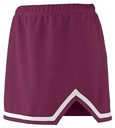 Augusta Sportswear Girls Energy Skirt, L, Maroon/White