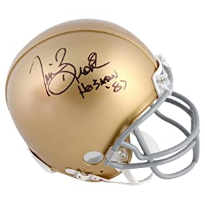 Tim Brown Notre Dame Fighting Irish Autographed Riddell Mini Helmet with Heisman 87... by Sports Memorabilia