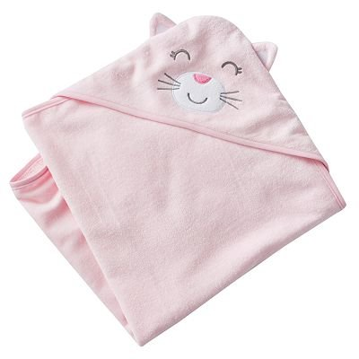Carter's Baby Hooded Towel (pink kitty)