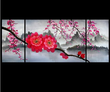 Japanese Cherry Blossom Painting Feng Shui Painting Flower Painting 42