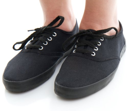 caty style s canvas plimsoll shoes black 8 from