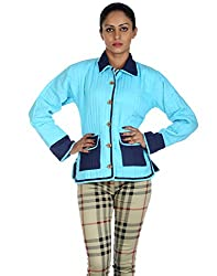Women's Wear Reversible Machine Quilted Cotton Jacket By Rajrang