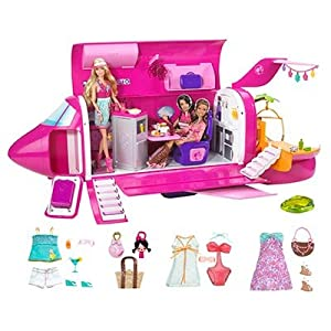 Amazon.com: Barbie Dolls & Glam Jet Includes 3 Dolls, Fashions
