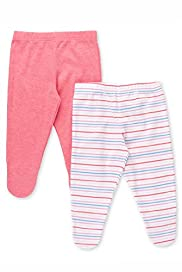 2 Pack Striped Crawler Bottoms