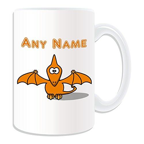 Grand-cadeau-personnalis-Silly-Pteranodon-Mug-Dinosaure-thme-des-animaux-en-anglais-Blanc-nom-sur-votre-propre-Message