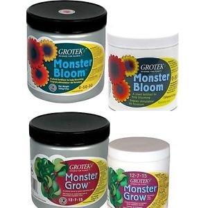 Grotek Monster Bloom/Grow Plant Growth Nutrient Flowering Fertilizer Hydroponics Bloom