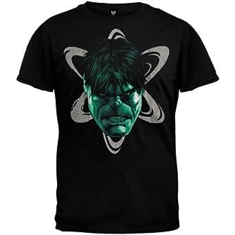 The Incredible Hulk - Mens Head Out T-shirt Medium Black