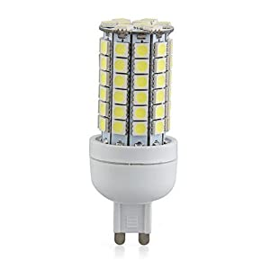 G9 8W 69 LED 3528 SMD Lampara Bombilla 6500K Luz Blanco AC 220V   Comentarios de clientes y más información