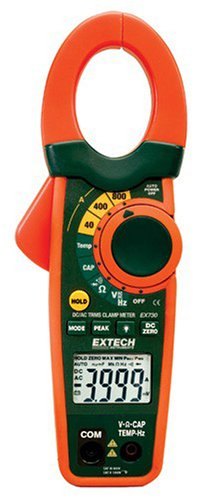 Extech EX730 True RMS 800-Ampere AC/DC Clamp Meter