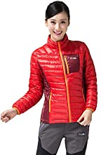 Makino Women39s Outdoor Keep-warm Windproof down-filled Jacket M6003-2 - Red - L