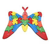 Large Wooden Alphabet Jigsaw Puzzle - Butterfly