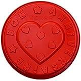 Lily Cook KP5008 Moule Anniversaire Silicone Rouge/Bleu/Orange/Vert 26,5 x 6,5 x 26,5 cm