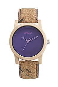 Sprout Purple Eco-friendly Cork Watch