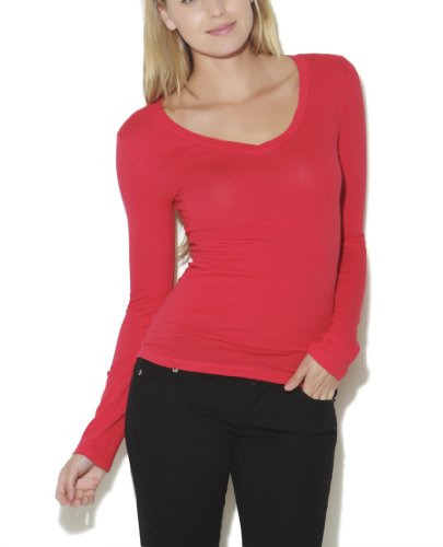 Wet Seal Women's Long Sleeve V-neck Top