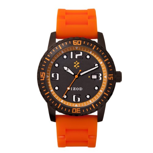 IZOD Men's IZS3/2R BLACK ORANGE Sport Quartz 3 Hand Watch