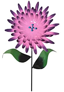 Steven Cooper Metalsmith AFLWR-22-3-XL Artificial Garden Flower on Footed Stake, 6-Feet, Dark Pink