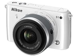 Nikon ミラーレス一眼 Nikon 1 S1 標準ズームレンズキット1 NIKKOR VR 10-30mm f/3.5-5.6付属 ホワイト N1S1HLKWH