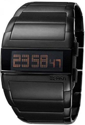 Esprit A.ES102042002 - Reloj analógico de cuarzo unisex con correa de acero inoxidable, color negro