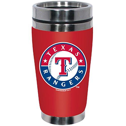 MLB Texas Rangers Stainless Steel Travel Tumbler with Neoprene Wrap, 16-Ounce, Team Color