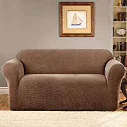 Sure Fit Stretch Metro 1-Piece Sofa Slipcover, Brown
