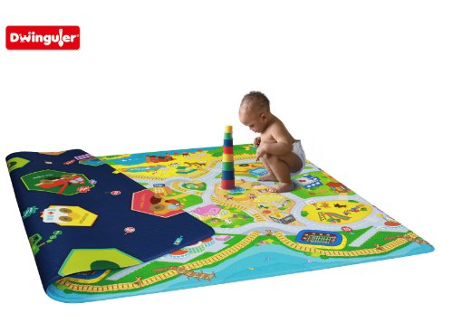 Dwinguler Eco-friendly Kids Play Mat - My Town (Large)