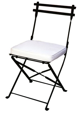 PTC Home & Garden Folding Dining Chair with Cushion, Pewter