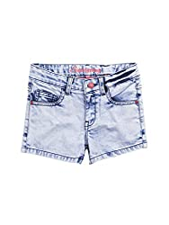 SuperYoung Girls' Ice Blue Shorts