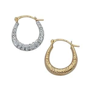 Adara 9ct Gold Crystalique Mini Creole Earrings