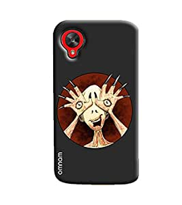 Omnam Small Zombie Watching Printed Designer Back Cover Case For Google Nexus 5