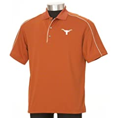 NCAA PGA TOUR Texas Longhorns Burnt Orange Piped Polo by PGA TOUR